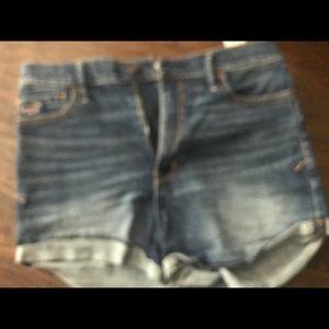 Hollister denim shorts size 9 w29 high waist